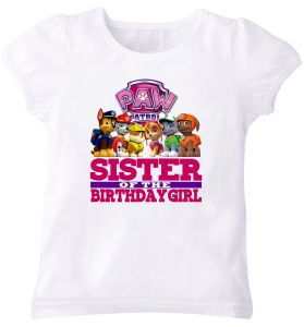 Princesses R Us Sister Of The Birthday Boy T Shirt For Girls