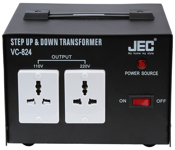 JEC Step Up and Down Transformer Voltage Converter - VC-824 Jec Wiring Diagram Heater Bands on