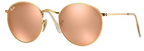 d8a7db23493 Ray-Ban Round Sunglasses for Unisex - Full Rim Gold Frame