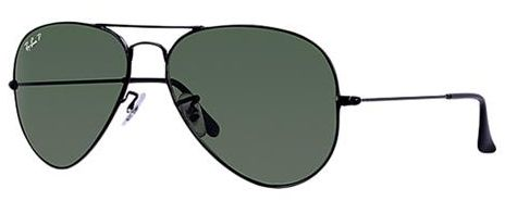 8dc6c76ef7 Ray-Ban Aviator Polarized Unisex Sunglasses - RB3025 002 58