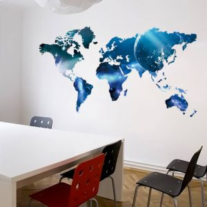 World map zooyooicanvasartthe decal guru uae souq world map wall sticker for kids rooms decals home decor decoration gumiabroncs Images
