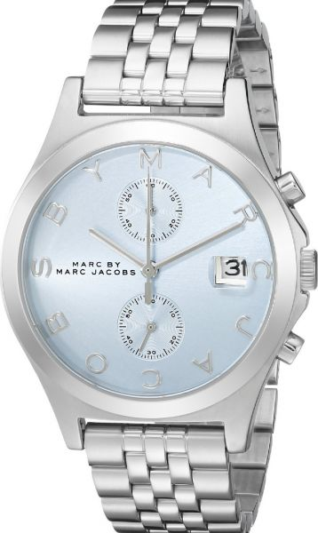 c426f3038e8cb Marc by Marc Jacobs The Slim Women's Blue Dial Stainless Steel Band ...