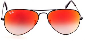 f34055aea484d7 Ray-Ban Unisex Aviator Sunglasses-Black Frame -Orange Gradient Lens  -RB3025-002 4W58