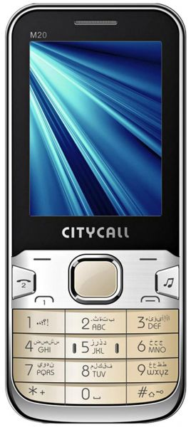 Citycall M20 Mobile Phone - Less than 512MB, Gold