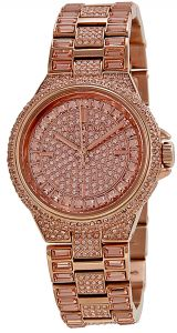 f4fa349de415a Michael Kors MK5948 CAMILE ROSE CRYSTAL FIXEDROSE GOLD TONE W  CRISTALS LADIES  WATCH