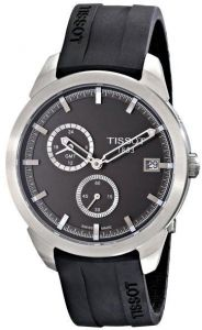 6cd24ebe8bcb1 Tissot T-Sport Titanium GMT Men s Black Dial Rubber Band Watch -  T069.439.47.061.00