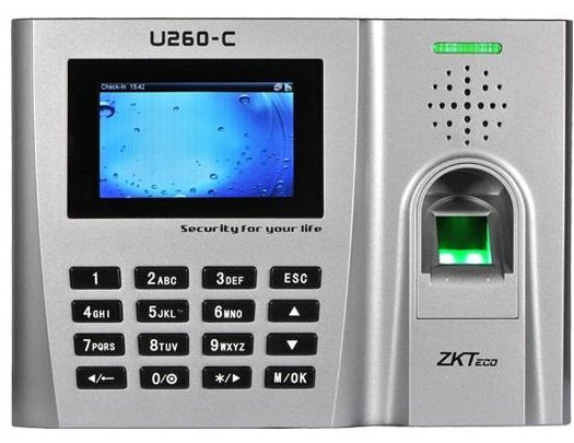 Protable Fingerprint Access Control with Time Attendance by ZKTeco,  ZK-U260-C-ID