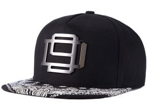 a8a0e0d2378ad Paisley Flat Brim Black Hat Snapback Baseball Cap For Men Women