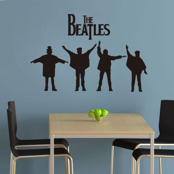 The Beatles 3d Wall Sticker Home Decor People Like Music Kids Bedroom Living Room Sticker8192