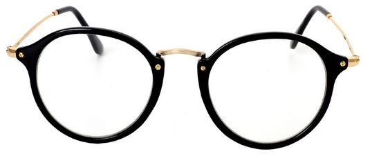 a8e574c1a0c Round Circle Eye Glasses Large Oversized Metal Frame Clear Lens. by Other