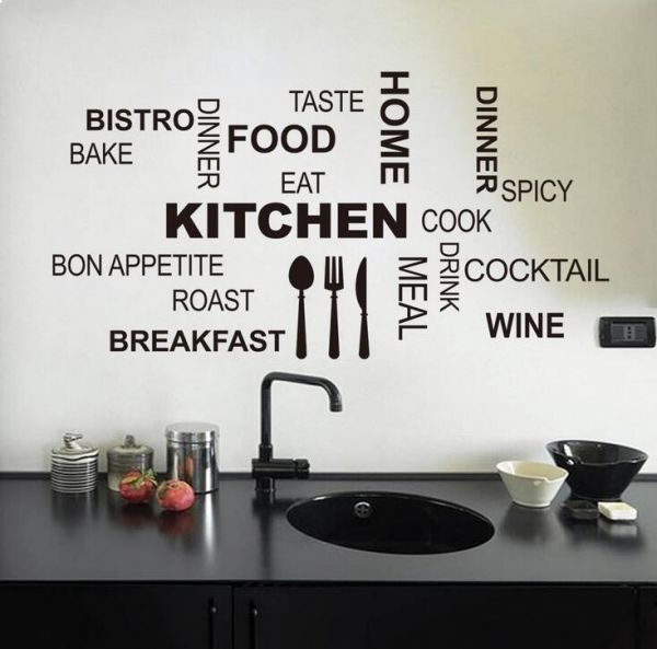 waterproof decorative wall stickers kitchen dining room wall decals