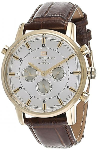 Tommy Hilfiger Gmt Watch For Men Analog Leather Band 1790874