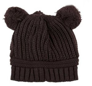 e36d8e98e Brown mouse winter beanie hat for babies