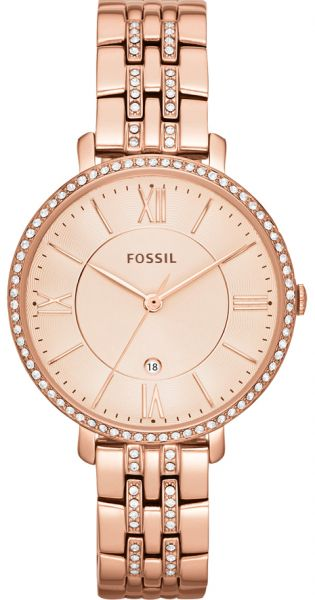 ef2b8bd31a8af Fossil Jacqueline Women s Rose Gold Dial Stainless Steel Band Watch -  ES3546