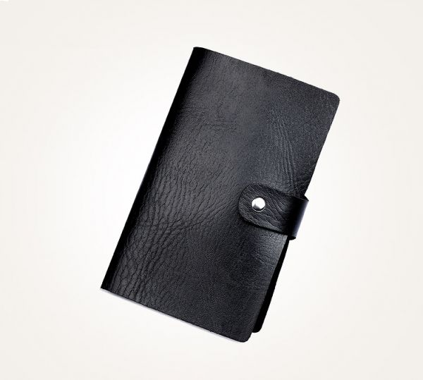 Fashion Business Card Holder For Men Black Leather Credit Card Case