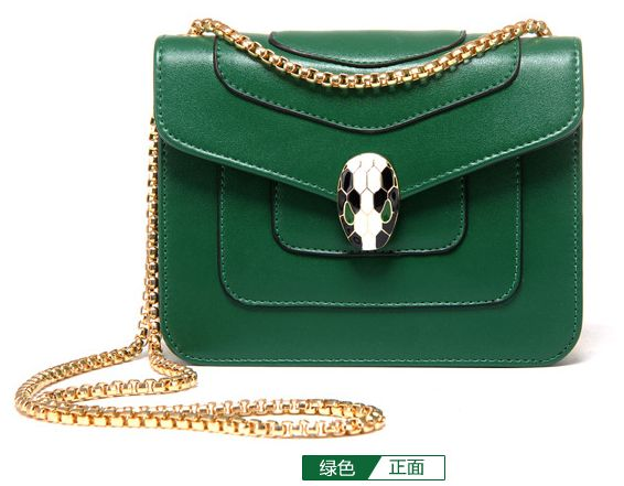 f48a4320b5e6 Fashion Green Shoulder Bag For Women Summer Style Chain Crossbody Bag  Ladies Dress HandBag