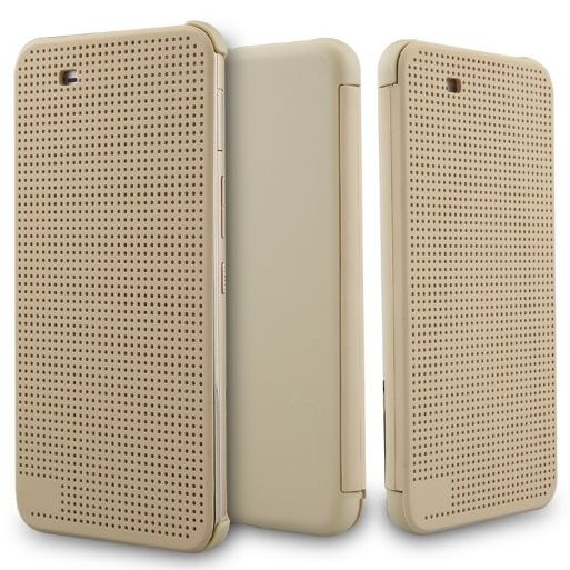 timeless design 6fcef 51517 Dot view Flip Cover Case for HTC One X9 - Gold