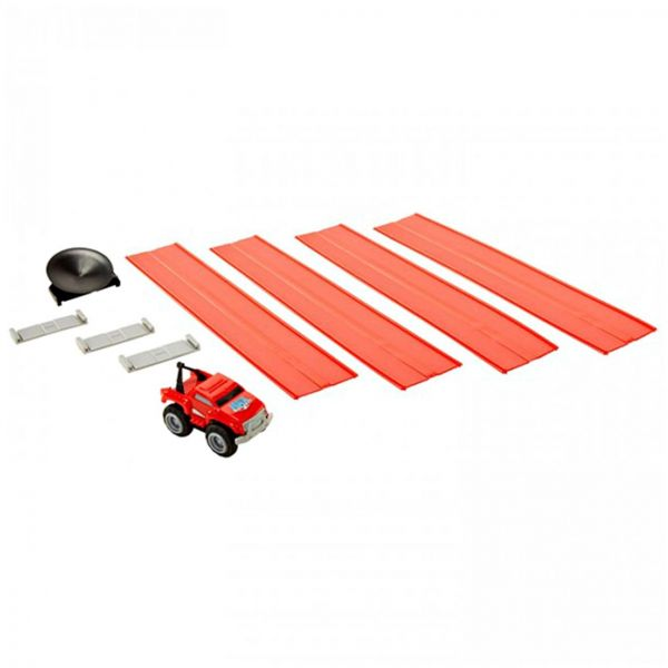 Max Tow Truck Mini Hauler Red Tow Truck With Max Mini Track Pieces