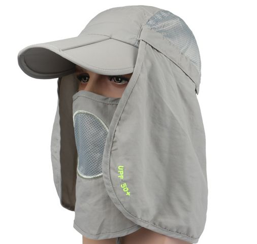 UV 50 Protection Outdoor Multifunctional Flap Cap Sun Shield Mask ... 293e1964266