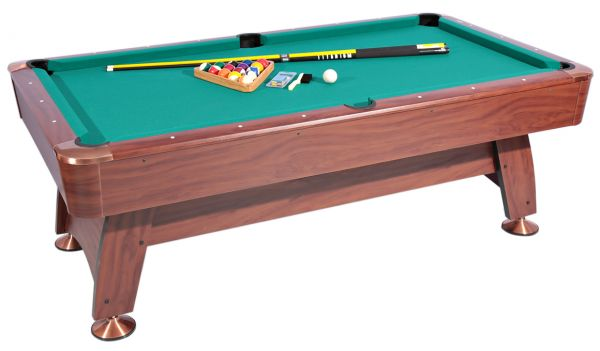 Incroyable Roma Italy Billiard Table And Accessories Set   06150101, Brown/Green
