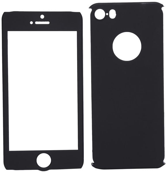 new products 9ac7a 08327 Apple iPhone 5/5S/SE 360 Full Body Cover with Screen Protector - Black