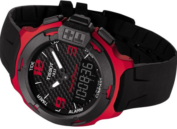 Tissot T-Race Red and Black Touch Swiss Made Mens Analog-Digital Watch  T081.420.97.207.00  f4043d1d4e