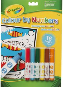 Crayola Color By Numbers Generic Version CY037321 Markers And Coloring Book