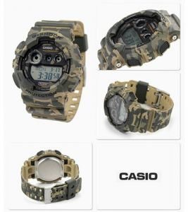478cc539c85f Casio G-Shock Camouflage Resin Band Camouflage Dial Mens Watch GD-120CM-5D