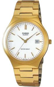 7dbfcc5dd Casio Men's White Dial Gold Tone Stainless Steel Band Watch - MTP-1170N-7A