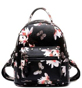 a0fcd0a3e96 casual floral leather small School Backpack For girls