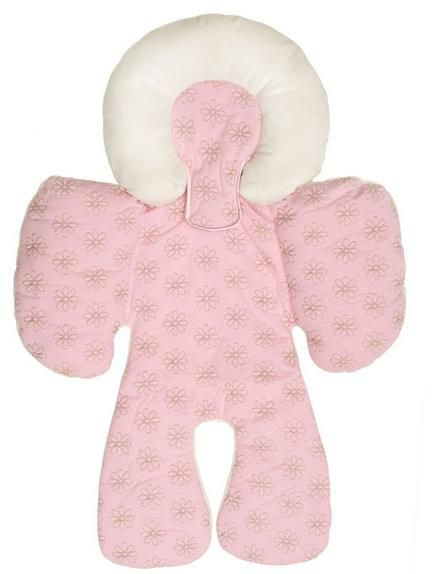 JJ Cole Baby Head And Body Support Pillow For Car Seat StrollerPink