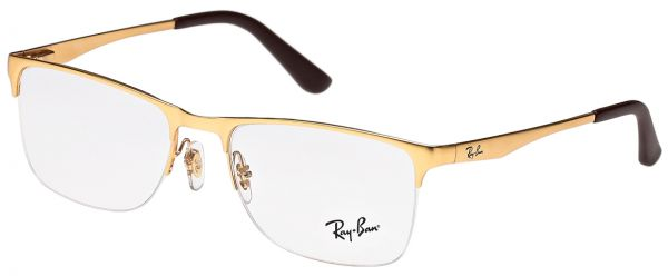 5ac892a1dc Ray-ban Rectangle Gold Unisex Optical Frames - Rx6342i-2730-54-54-18 ...