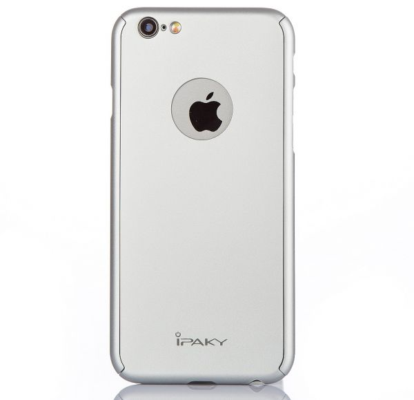 brand new 1676e df272 iPhone 6/6s Plus - iPaky 360 Full Protection Case with Glass Screen  Protector (Apple cutout)– Silver