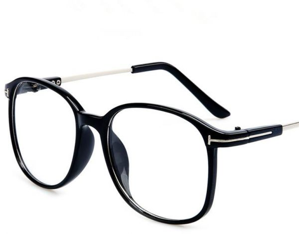 Retro Metal Flat Decoration Eyewear Fashion Big Frame Glasses For Women Men,black | Souq - UAE