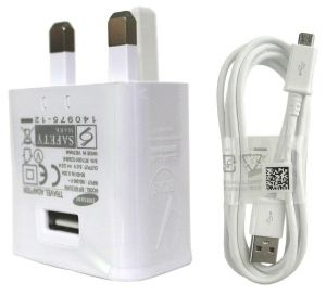 922fcb429b6b0 SAMSUNG 3 Pin UK Super Fast Mains Charger for Galaxy S7   S7 Edge - White
