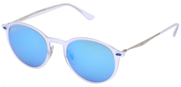 79667d6e9a Ray Ban Round Glossy Silver Unisex Sunglasses - RB 4224 646 55-49-20-120 mm