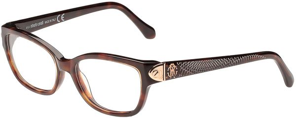 Buy Roberto Cavalli Rectangle Dark Havana Women\'s Optical Frame - Rc ...