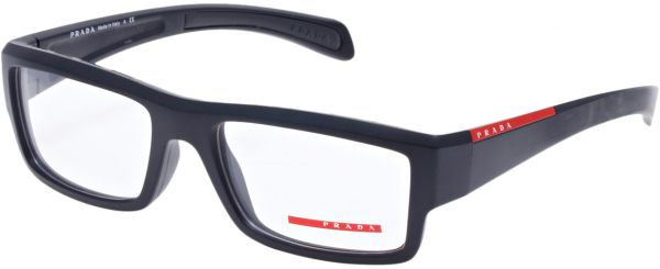 c4d88593e2a5 Prada Rectangle Matte Black Men s Eyewear Frame - VPS 07A 55-18 1BO ...