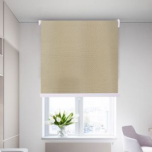 High Quality Interior Roller Shades Curtain Light Brown Color With Beaded Chain Z 05