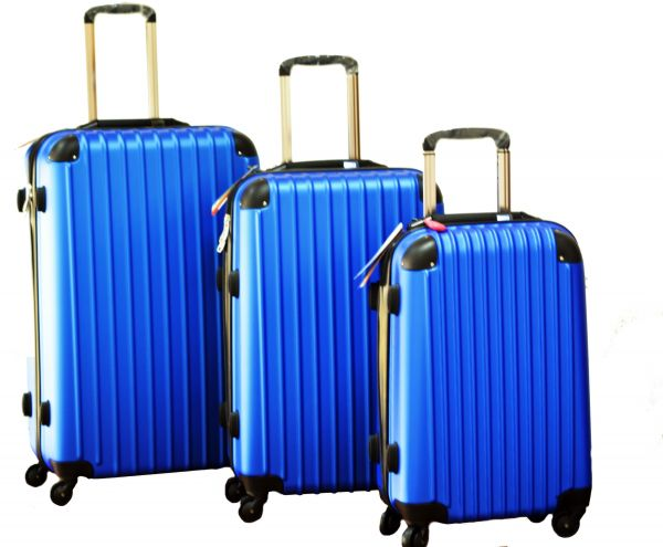 Discovery Smart Luggage Anti Scratch With Built In Scale 100m Chip Tracker 3 Piece Set Ra808 Blue