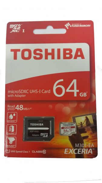 4c8f514af Toshiba 64 GB Micro SDXC UHS Class 10 Memory Card with Adapter ...