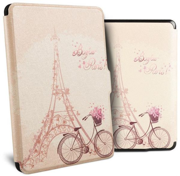 Romantic Eiffel Tower Universal Protective Cover Case For Amazon Kindle  Paperwhite 1/2/3