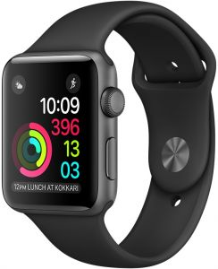 ca61935d1cf Apple Watch Series 1 - 42mm Space Gray Aluminum Case with Black Sport Band