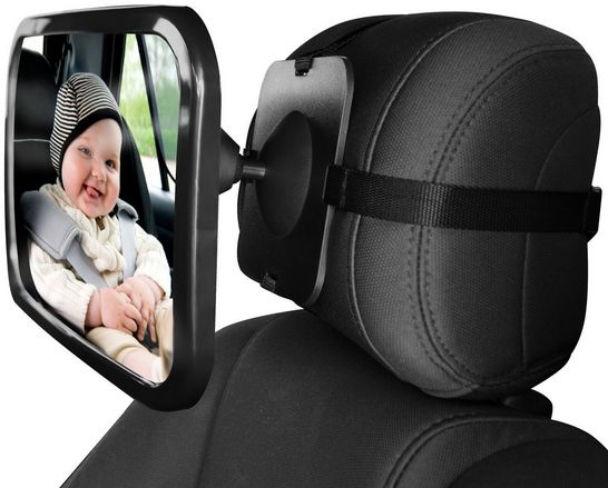 c7435a8002b Back Seat Mirror Baby Car Mirror for Keeping an eye on Rear Facing Babies.