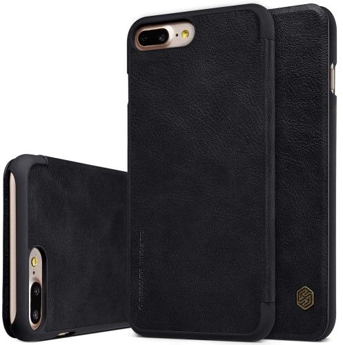 separation shoes c334d 00185 Nillkin Apple iPhone 7 Plus / iPhone 8 Plus Qin Flip Leather Case Cover -  Black