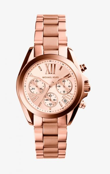 f669aff8af90 Michael Kors Oversized Bradshaw Women s Rose Gold Dial Stainless Steel Band  Watch - MK5503