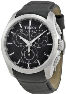 cef0f2f3a Tissot Couturier Men's Black Dial Leather Band Watch - T0356171605100