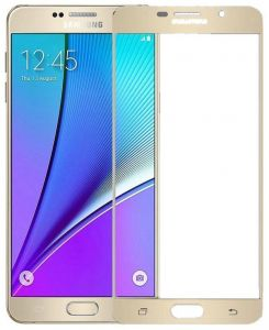 Tempered Glass Screen Protector For Samsung Galaxy A7 2016 SM-A710 - Gold