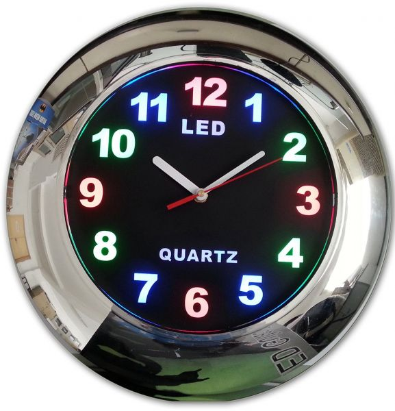 3b7d8fce2ae2 Creative Motion LED Clock with Chrome Frame