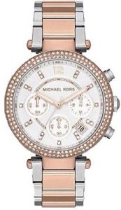 e4caaaf6c386 Michael Kors MK5820 Two Tone Rose Gold Ladies Chronograph Date Watch
